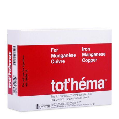 Dung dịch uống điều trị thiếu máu do thiếu sắt Tot'héma 1