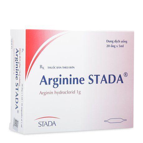 Thuốc ống điều trị tăng  Aminiac huyết Arginine Stada 1