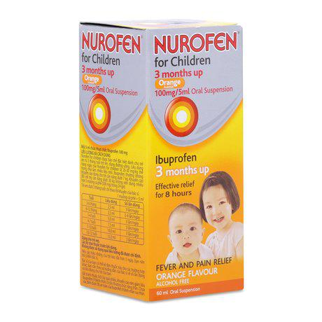 Thuốc hạ sốt giảm đau cho trẻ em Nurofen For Children Orange 1