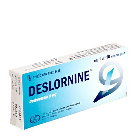Thuốc trị viêm mũi dị ứng, mề đay Deslornine(1 vỉ x 10 viên) 1