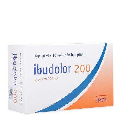 Thuốc trị đau đầu, đau răng, đau xương khớp Ibudolor (200mg) 1