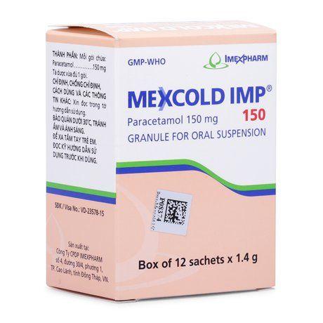 Thuốc cốm pha hỗn hợp dịch trị các cơn đau nhức Mexcold IMP 1