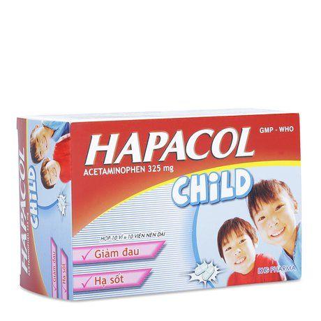 Thuốc giảm đau hạ sốt Hapacol Child 325g(hộp 10vỉ x 10 viên) 1