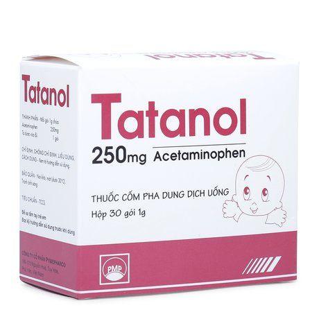 Thuốc giảm đau, hạ sốt Tatanol 250mg (hộp/30 gói) 1