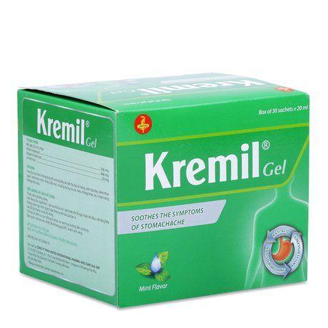 Thuốc làm dịu các triệu chứng đau dạ dày Kremil Gel (30 gói) 1