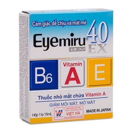 Thuốc nhỏ mắt điều trị mỏi mắt, mờ mắt Eyemiru 40ex (15ml) 1