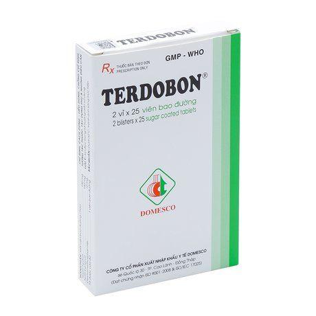 Thuốc trị ho và dịch tiết phế quản Terdobon(2 vỉ x 35 viên) 1