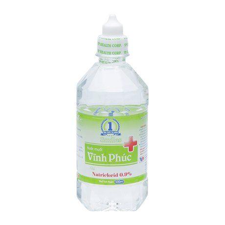 Nước muối sinh lý Vĩnh Phúc Natriclorid 0.9% (500ml) 1