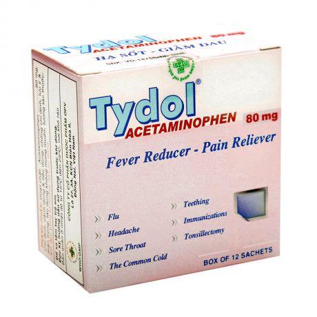 Bột uống giúp giảm đau, hạ sốt Tydol Sachet Powder 80Mg 1
