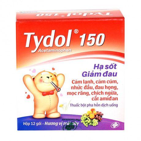 Thuốc giảm đau và hạ sốt Tydol 150mg (12 gói/ hộp) 1