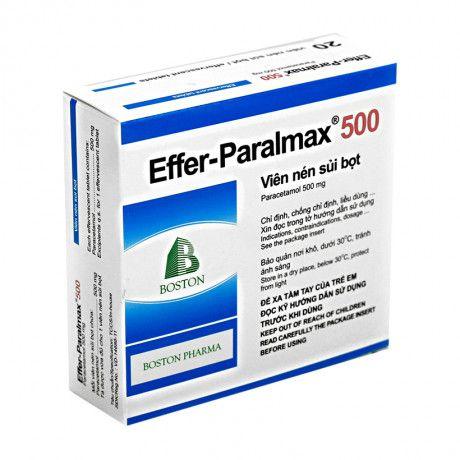 Viên nén sủi bọt giảm đau, hạ sốt Effer- Paralmax 500mg 1
