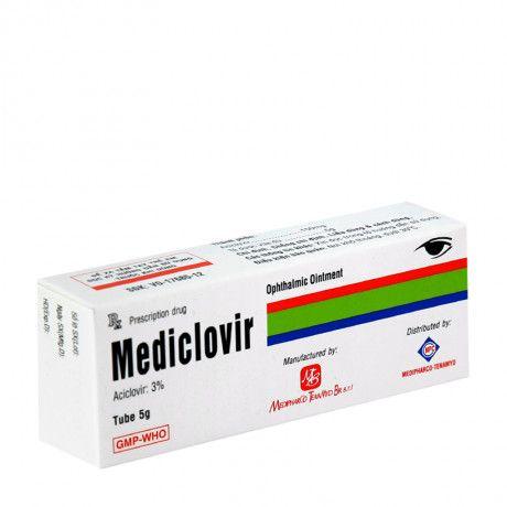 Thuốc mỡ tra mắt Mediclovir 3% (5g)- Xuất xứ Việt nam 1