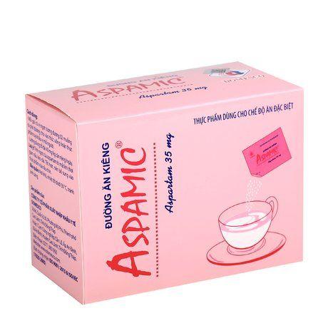 Đường ăn kiêng Aspamic 35mg ( hộp 100 gói x 1g) 1