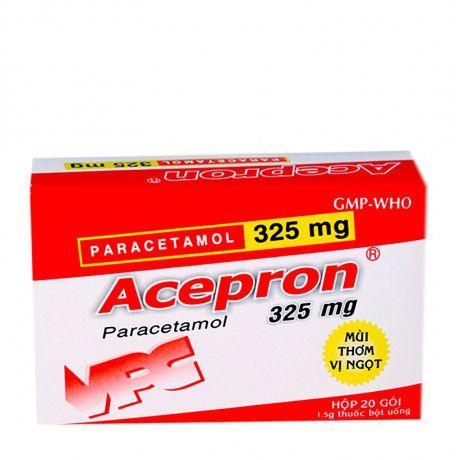 Thuốc bột uống giúp hạ sốt giảm đau Acepron 325mg 1
