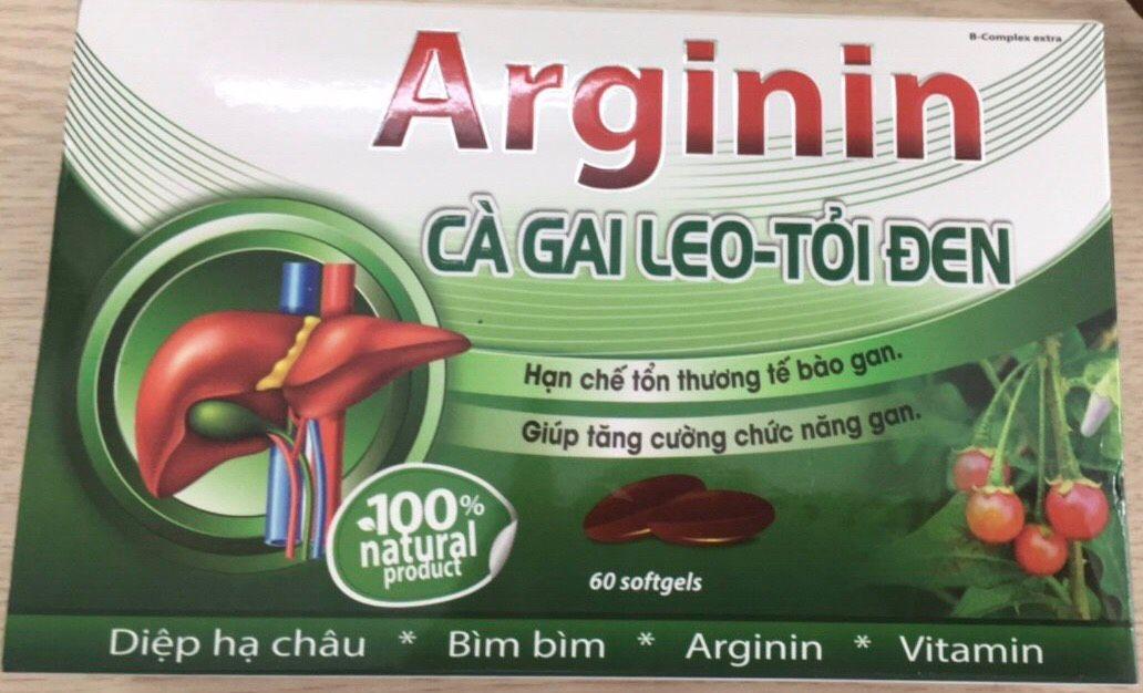 Arginin cà gai leo tỏi đen tăng cường chức năng gan, lợi mật 1