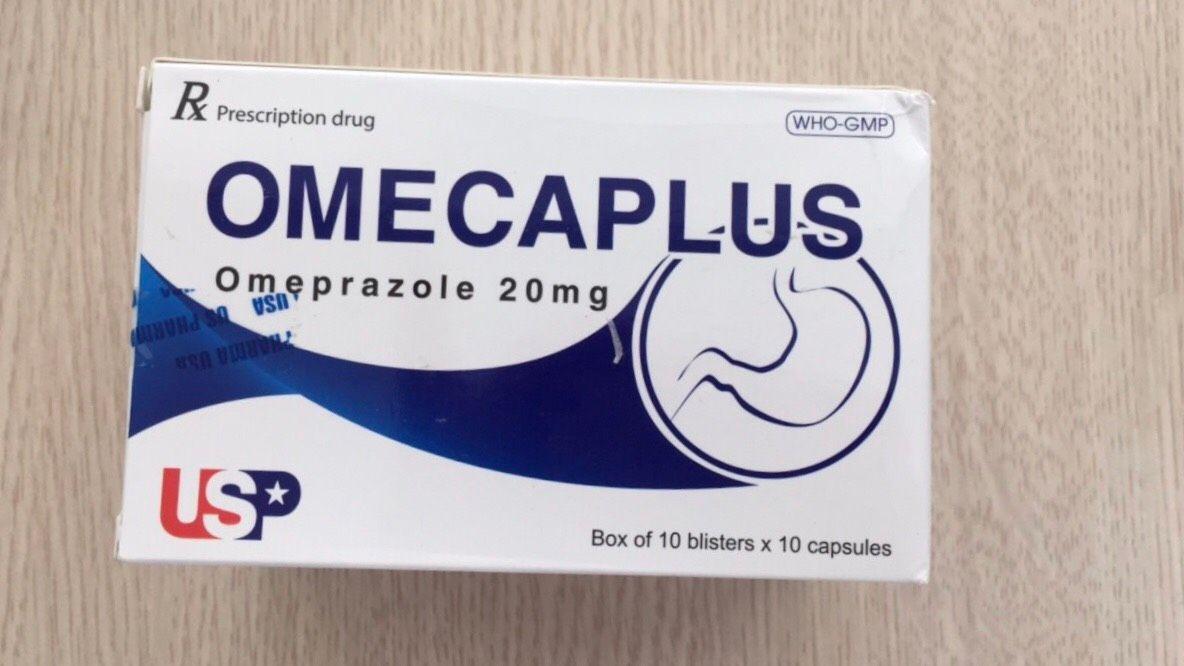 Thuốc trị trào ngược dạ dày, loét đường tiêu hóa Omecaplus 1
