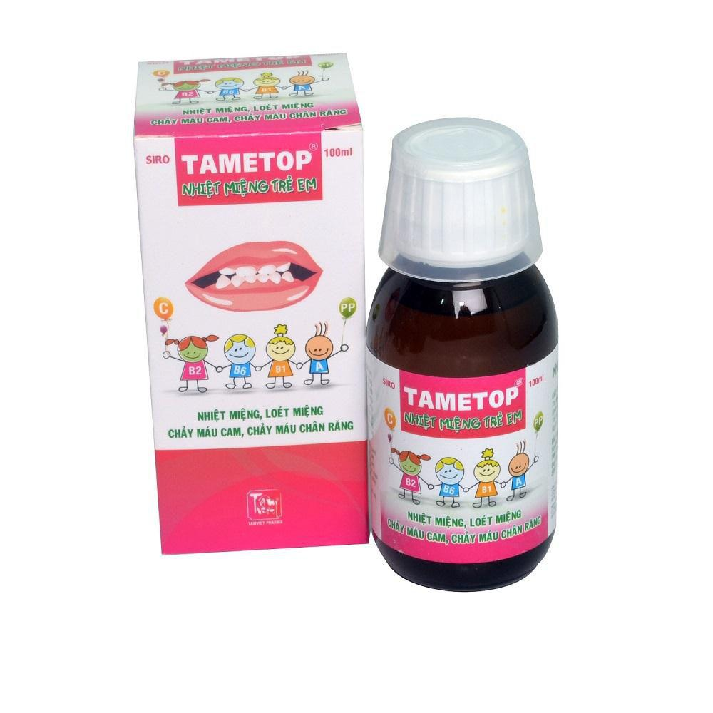 Siro Tametop 100ml- Giúp hỗ trợ trị nhiệt miệng, loét miệng 1
