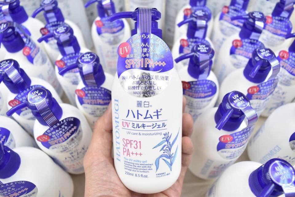 Sữa Dưỡng Thể Chống Nắng Trắng Da Hatomugi SPF31 PA+++ Nhật Bản 1