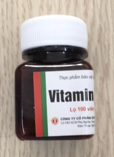 Vitamin C lọ 100 viên hỗ trợ tăng cường sức đề kháng- Đại Uy 1