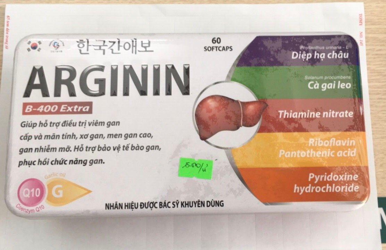 Arginin giúp mát gan, tăng cường chức năng gan- Hàn Quốc 1