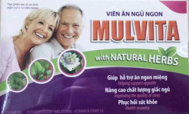 Viên ăn ngủ ngon Mulvita (hộp 3vỉ x 10 viên nang)-Hoàng Liên 1