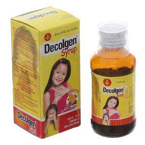Siro thuốc Decolgen Syrup điều trị các triệu chứng cảm (60ml) 1