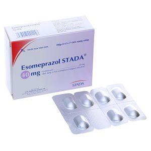 Thuốc trị trào ngược dạ dày, loét dạ dày esomeprazol 40mg 1