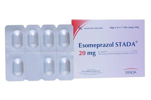 Thuốc trị trào ngược dạ dày, loét dạ dày Esomeprazol 20mg 1