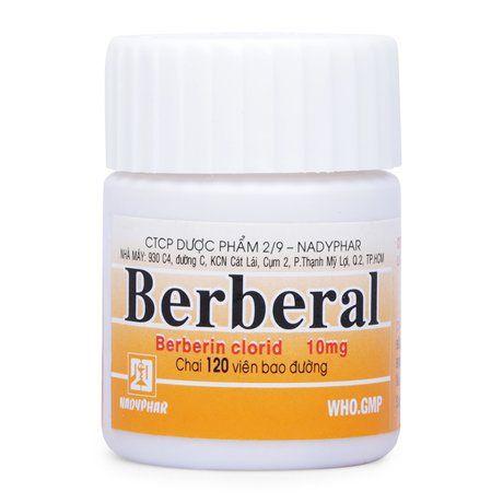 Thuốc trị tiêu chảy Berberal(Chai 120 viên) Xuất xứ Việt Nam 1