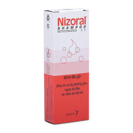 Dầu gội trị gàu, ngứa da đầu, viêm da tiết bã Nizoral 2% 1