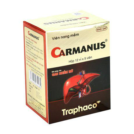 Thuốc điều trị gan nhiễm mỡ, suy gan Carmanus 1