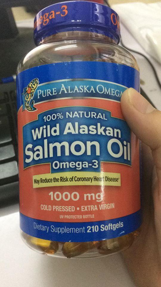 Dầu Cá Hồi Pure Alaska Omega Wild Alaskan Salmon Oil 1000mg 1
