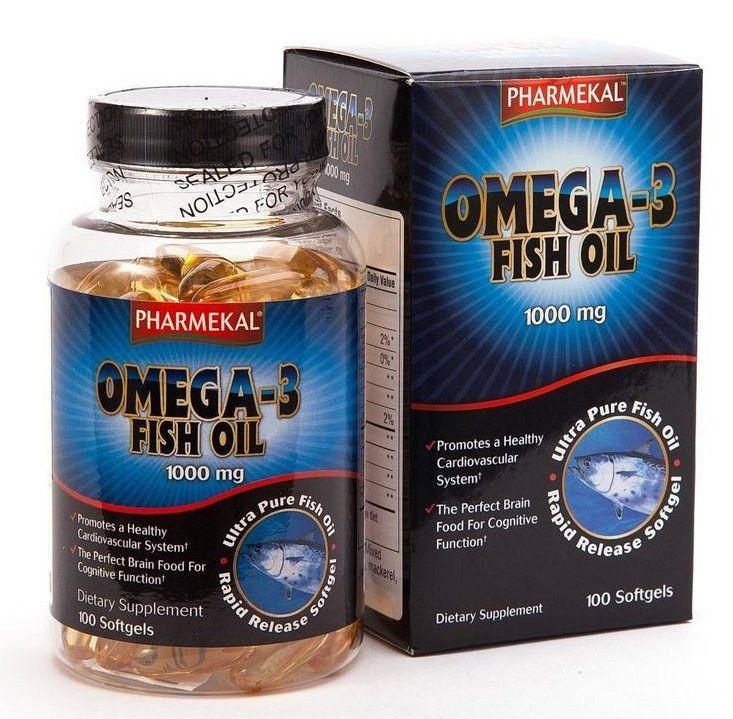 Dầu Cá Pharmekal Omega 3 Fish Oil 1000mg Chính Hãng Của Mỹ 1