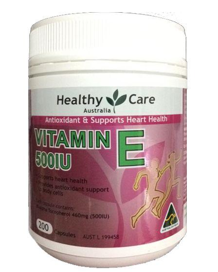 Vitamin E Healthy Care 500IU hộp 200 viên của Úc 2