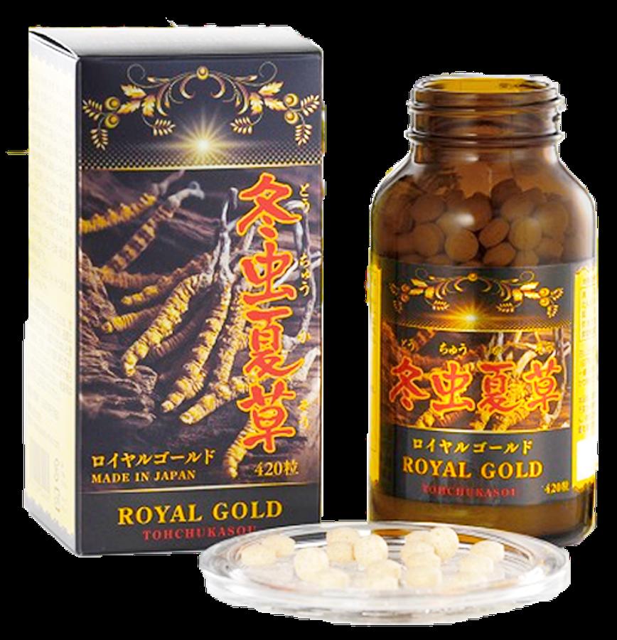 Đông Trùng Hạ Thảo Tohchukasou Royal Gold Cao Cấp Hộp 420 Viên 1
