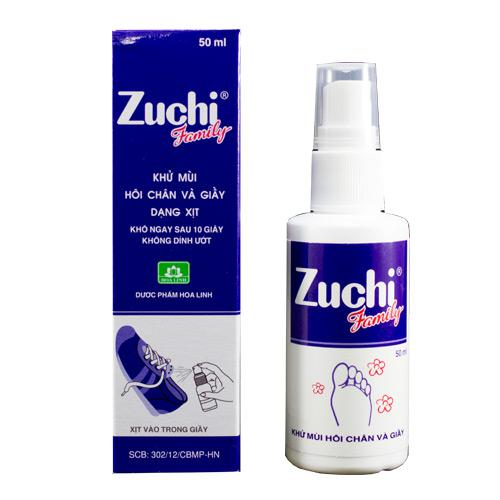 Khử mùi hôi chân và giày dạng xịt Zuchi Family 50ml 1