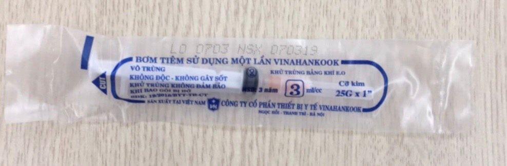Bơm tiêm sử dụng một lần Vinahankook 3ml/cc 1