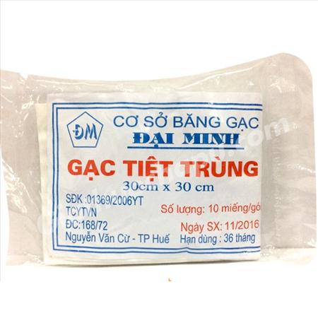 Gạc y tế tiệt trùng Đại Minh gói 10 miếng 30cm x 30cm 1