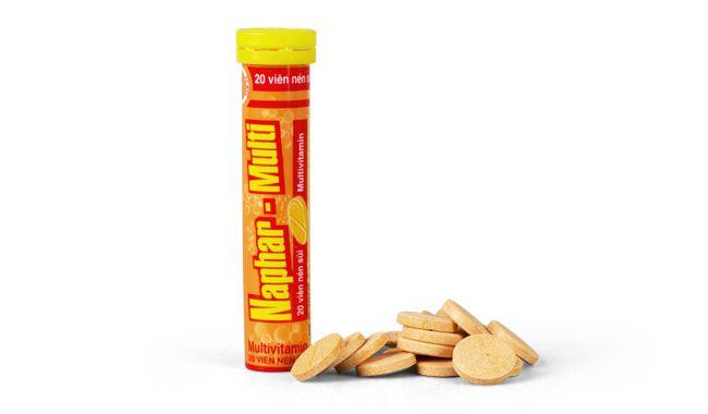 Viên nén sủi Naphar- Multi bổ sung và cung cấp Vitamin 1