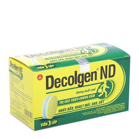 Thuốc trị triệu chứng cảm nhức đầu Decolgen ND 1 vỉ x 4 viên 1