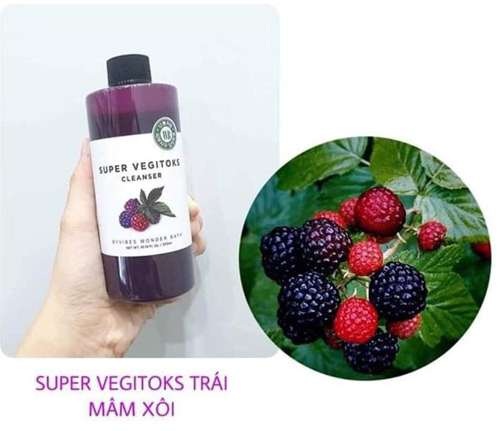 Sữa rửa mặt rau củ hỗ trợ thải độc Super Vegitoks Cleanser 4