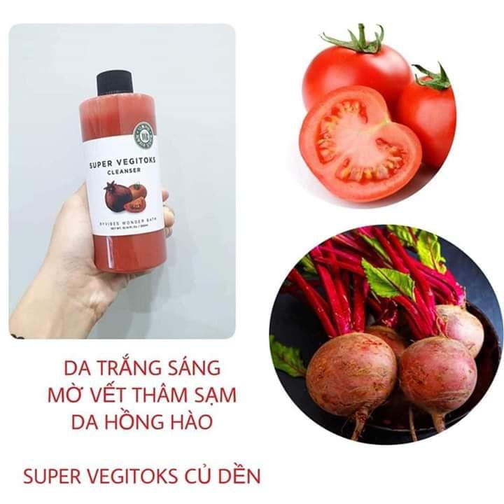Sữa rửa mặt rau củ hỗ trợ thải độc Super Vegitoks Cleanser 5