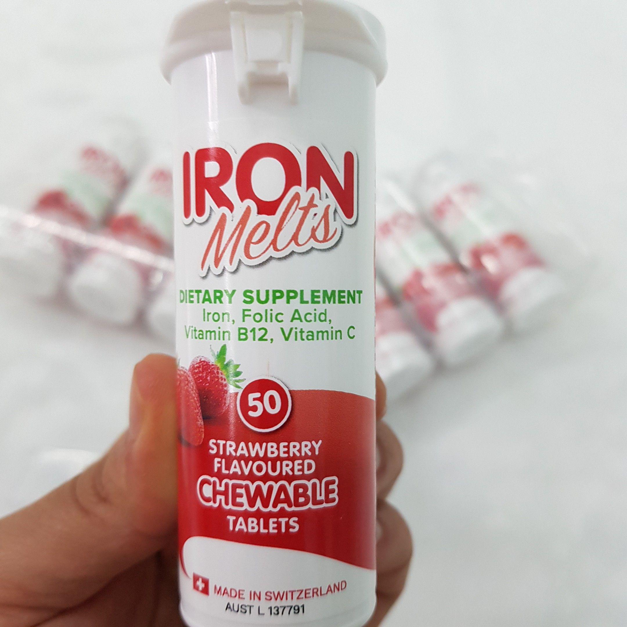 Viên Iron Melts Bổ Sung Sắt, Acid Folic, Vitamin B12, Vitamin C 1