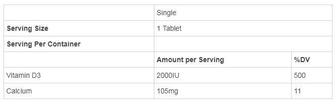 Vitamin D3 Nature Made 50 Mcg 2000 IU Dạng Viên Của Mỹ 2
