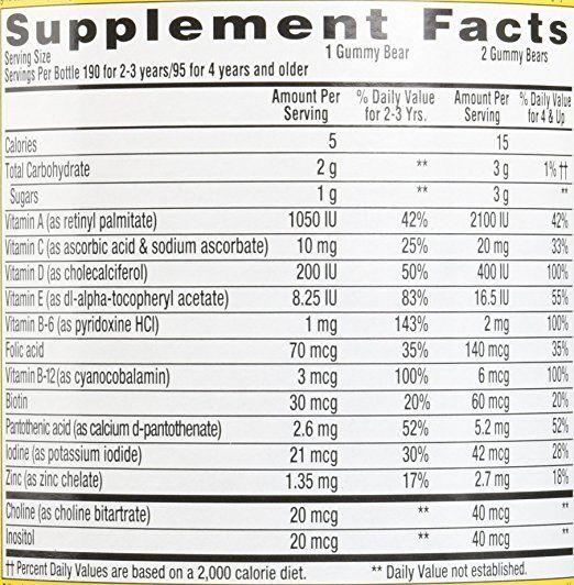Kẹo Dẻo Lil Critter Gummie Vite Bổ Sung Vitamin Cho Trẻ Từ 2 - 4 Tuổi 2
