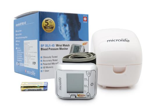 Máy đo huyết áp cổ tay Microlife 3BJ1 - 4D 1