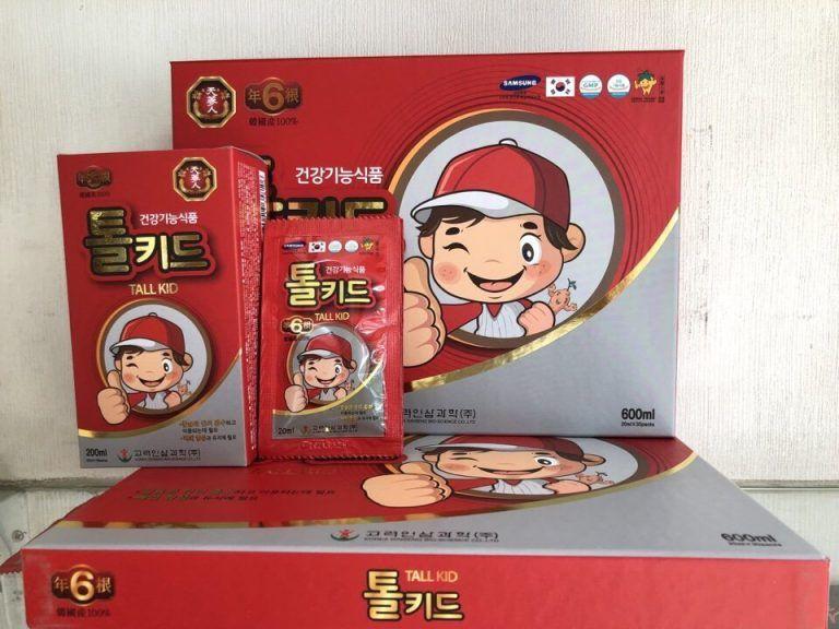 Nước Hồng Sâm Trẻ Em  Hỗ Trợ Tăng Chiều Cao Tall Kid 2