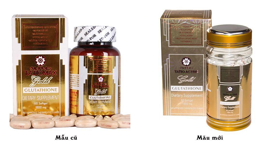 Tatiomax Active Gold Glutathione - Viên Uống Trắng Da Của Nhật 1
