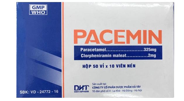 Pacemin - Thuốc trị cảm cúm, nhức đầu, ngạt mũi, viêm mũi…vỉ 10 viên