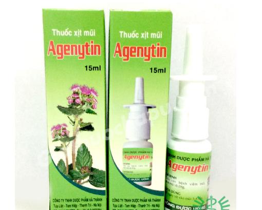 Agenytin - Xịt mũi ngũ sắc 15ml